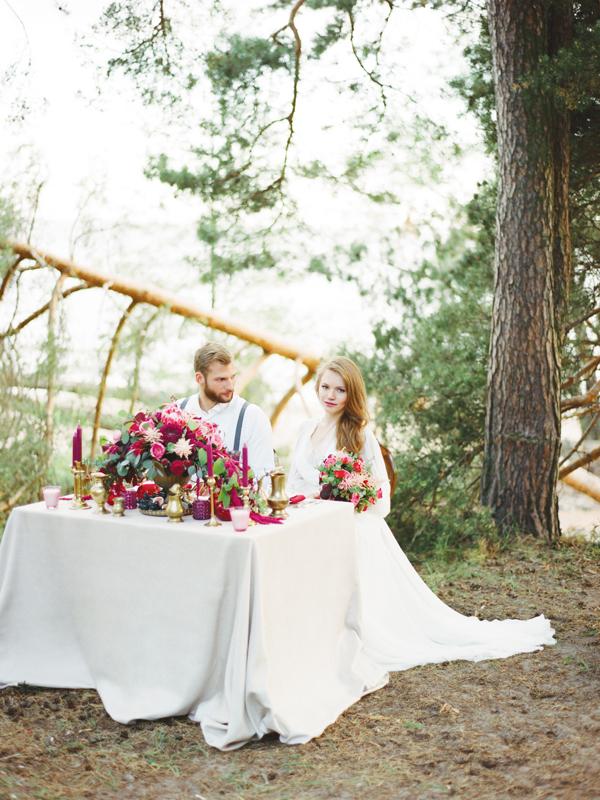 ежевичный стиль свадьбы