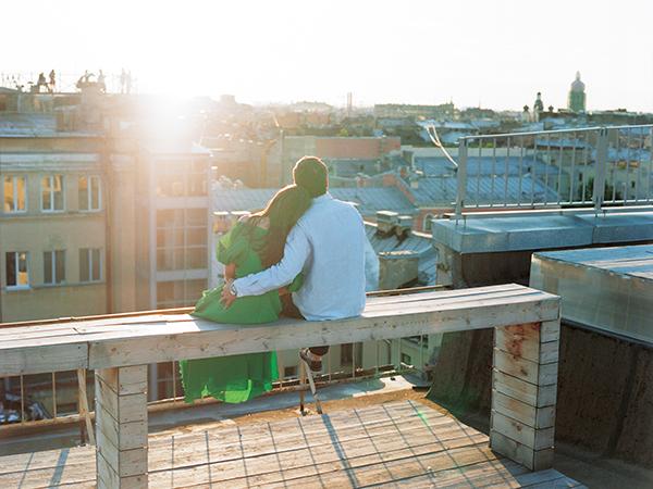 фотосессия на крыше спб