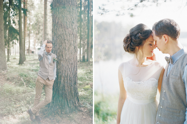 фотосъемка свадьбы в лесу