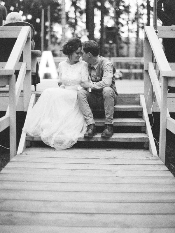 черно белая фотография свадьба
