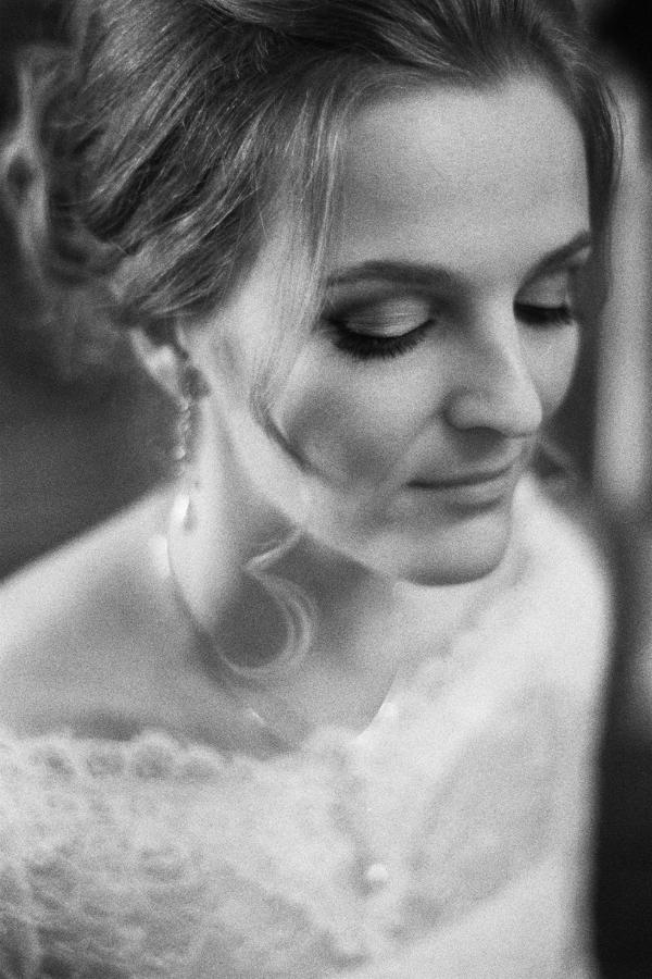 портрет невесты чб